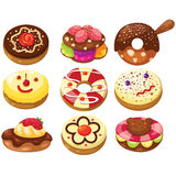 Set of donuts Stock Photography