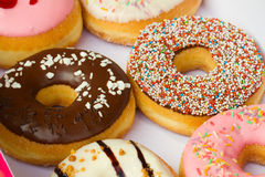 Set of   donuts in box Stock Image