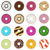 A set donuts. Flat design, illustration stock illustration