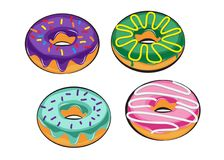 Set donuts isolated. doodle style Stock Photo