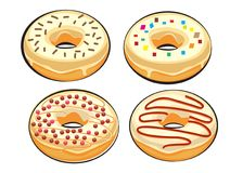 Set donuts isolated. doodle style Royalty Free Stock Image