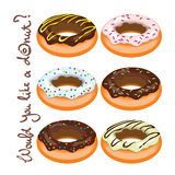 Set of donuts Royalty Free Stock Photo