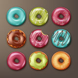 Set of donuts stock illustration