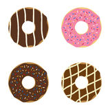 Set of donuts. Stock Image