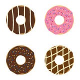 Set of donuts. Royalty Free Stock Photography