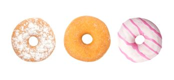 Set Donuts on white background, Assorted Donuts Stock Photo