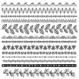 Set of doodle borders Royalty Free Stock Photography