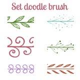 Set doodle brush Stock Images