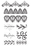 Set of doodle brushes. Stock Images