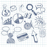 Set of doodle business management Royalty Free Stock Photos