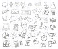 Set of doodle business management Stock Photos
