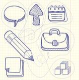 Set of doodle business management Royalty Free Stock Image