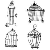 Set of doodle cages Stock Photo