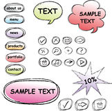 Set of doodle computer icons Royalty Free Stock Image