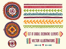 Set of doodle decoration elements Royalty Free Stock Photo