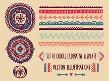 Set of doodle decoration elements Royalty Free Stock Photography