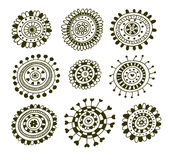 Set of doodle decorative elements Royalty Free Stock Photo