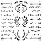 Set of Doodle Design Elements. Royalty Free Stock Photography