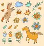 Set of doodle design elements Royalty Free Stock Photography