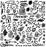 Set doodle design elements. Web icon Royalty Free Stock Image