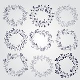 Set of doodle design elements Royalty Free Stock Images