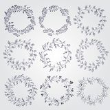 Set of doodle design elements Stock Images