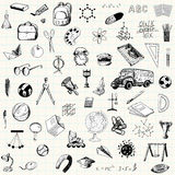 Set of doodle education icons Stock Image