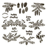 Set of doodle elements Royalty Free Stock Image
