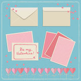 Set of doodle envelopes. Vector illustration Stock Photos