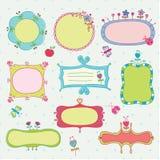 Set of doodle frames Stock Images