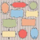 Set doodle frames Stock Image