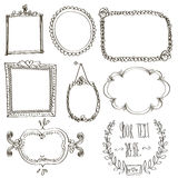 Set with doodle frames Stock Photo