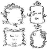 Set with doodle frames. Set with doodlehand drawn frames Stock Image