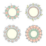 Set of doodle frames. Royalty Free Stock Photography