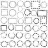 Set of 37 doodle frames Royalty Free Stock Image