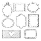 Set of doodle frames Royalty Free Stock Photos