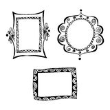 Set of doodle frames. Stock Image