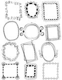 Set of Doodle Frames with No fill. A set of 12 hand drawn doodle frames with no fill Stock Photo