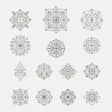 Set of doodle geometric shapes Stock Photo