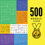 Set of 1000 doodle icon Royalty Free Stock Photography