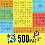 Set of 500 doodle icon Royalty Free Stock Photos