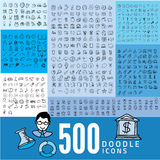 Set of 500 doodle icon Royalty Free Stock Photography