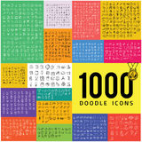 Set of 1000 doodle icon Royalty Free Stock Image