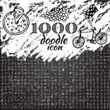 Set of 1000 doodle icon Stock Photography