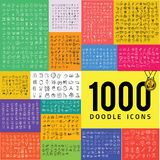 Set of 1000 doodle icon Royalty Free Stock Images