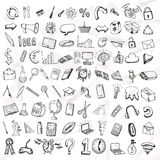 Set of doodle icons. Royalty Free Stock Images