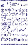 Set of doodle icons Stock Photos