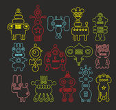 Set of doodle monsters Stock Photography