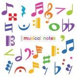 Set doodle muzykalnej notatki symbol ilustracji