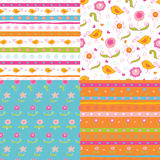 Set of doodle  patterns Royalty Free Stock Images